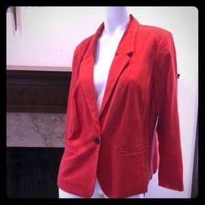 Kensie Red Blazer w/ Contrast Liner